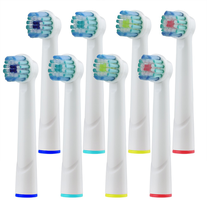 8Pcs EB20 Interchangeable Toothbrush Heads for Oral b Vatality Electric Toothbrush Heads Adult&Kids Mixed in different colors image