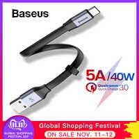 Câble de USB Type C Baseus 5A pour Huawei P30 Pro Mate 20 câble de Charge Super câble de Type C Portable pour Huawei Samsung S10 Xiaomi 8 9
