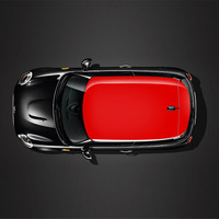 Red Union Jack Car Sunroof Roof Stickers Decals Auto For MINI COOPER R55 R56 R60 R61 F54 F55 F56 F60 Car Accessoriers
