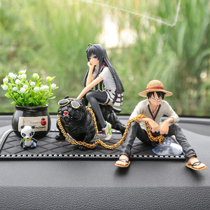 Creative Car Ornaments Luffy Model Doll Decoration Araba Aksesuar Car Interior Decoration Car Accessories Interior