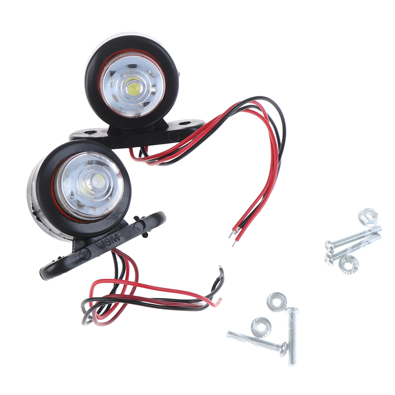 2Pcs Car Truck Trailer LED Side Marker Light White Red Turn Signal Clearance Light Indicator Lamp For Lorry Van Caravans 10 30V Truck Light System     - title=