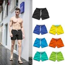 Летние пляжные шорты для мужчин, для плавания, с карманами, быстросохнущие плавки для тренировок, бега, движения, шорты S-XXXL размера плюс