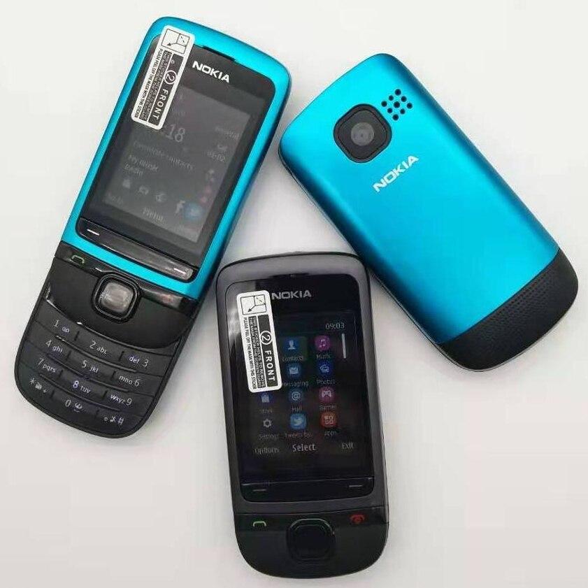 Фото. C2-05 Оригинальный разблокирована Nokia C2-05 скользящий для мобильного телефона обновленный Bluetoo