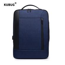 KUBUG Anti-thief USB Charging Business Single Shoulder Bag Multi-purpose Laptop Backpacks Waterproof Travel Mochila