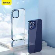 Baseus – Coque ultra fine transparente pour iPhone 12 Mini 12 Pro Max, étui arrière pour téléphone portable avec protection d'objectif,