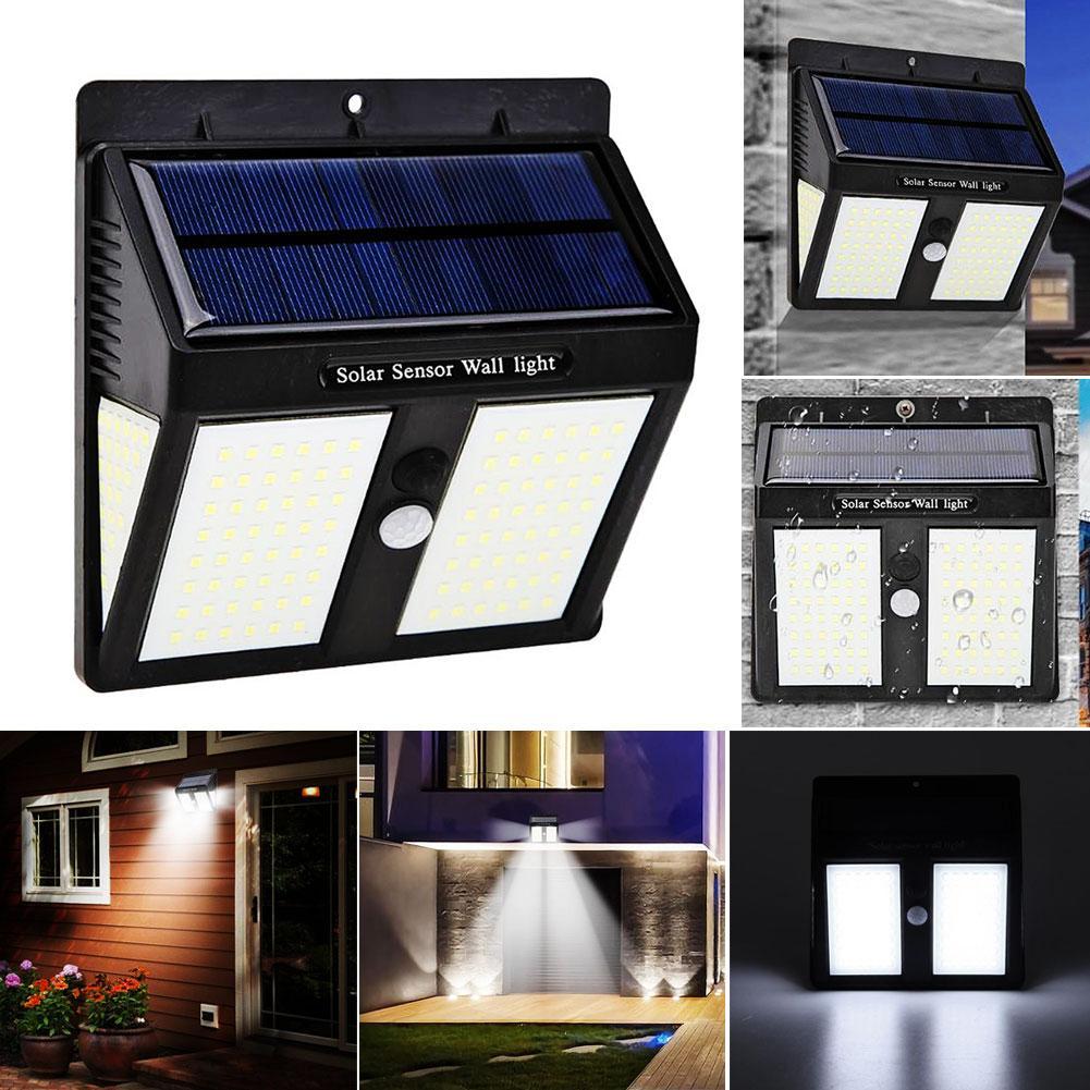 146LED Solar Powered Motion Sensor Wall Light Waterproof Garden Yard Lamp Decor