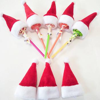 Mini czapka świąteczna czapka świętego mikołaja dla Lollipop Top Topper pokrywa kapelusz na boże narodzenie nowy rok festiwal strona dekoracji tanie i dobre opinie CN (pochodzenie) 2 ~ 4 Lat 5 ~ 7 Lat 8 ~ 13 Lat 14 lat i więcej Dorośli Sport Christmas Hats G307-1B-C01 as picture 10pcs