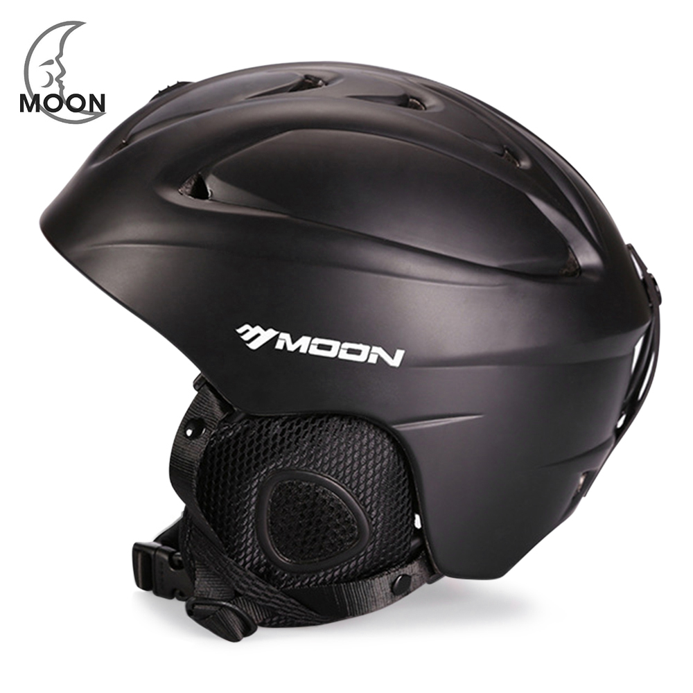 MOON Outdoor Skiing Helmet 14 Vents With Detachable Ear Cotton Sports Helmets For Cycling Skating Skiing