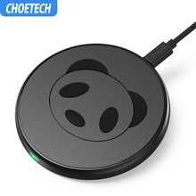 CHOETECH 5V 2A Wireless Charger for iPhone X 8 Plus 10W Qi Wireless Charging Pad for Samsung S8 Note 8 S7 S6 Edge Phone Charger(China)