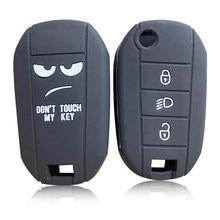 Чехол для автомобильных ключей для Peugeot 3008 208 308 RCZ 508 408 2008 407 307 4008 чехол для ключей для Citroen Berlingo 2020 чехол для ключей держатель