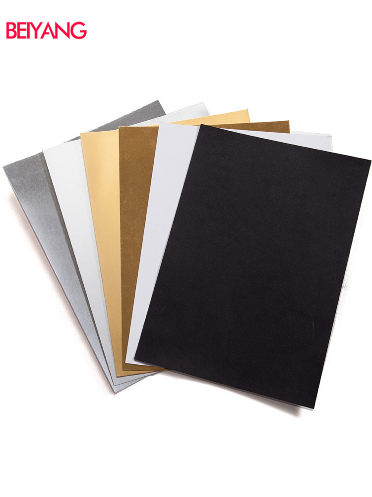BEIYANG Photography Gold Silver Black White Cardboard A4 Background Paper Reflectors Fill Light Matte Light Absorption Props