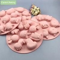 Arten Halloween Silikon Form Fondant Schokolade Candy Seife Ostern Weihnachten Mould Ofen Dampf Nützlich Kuchen Dekorieren Werkzeuge Harz