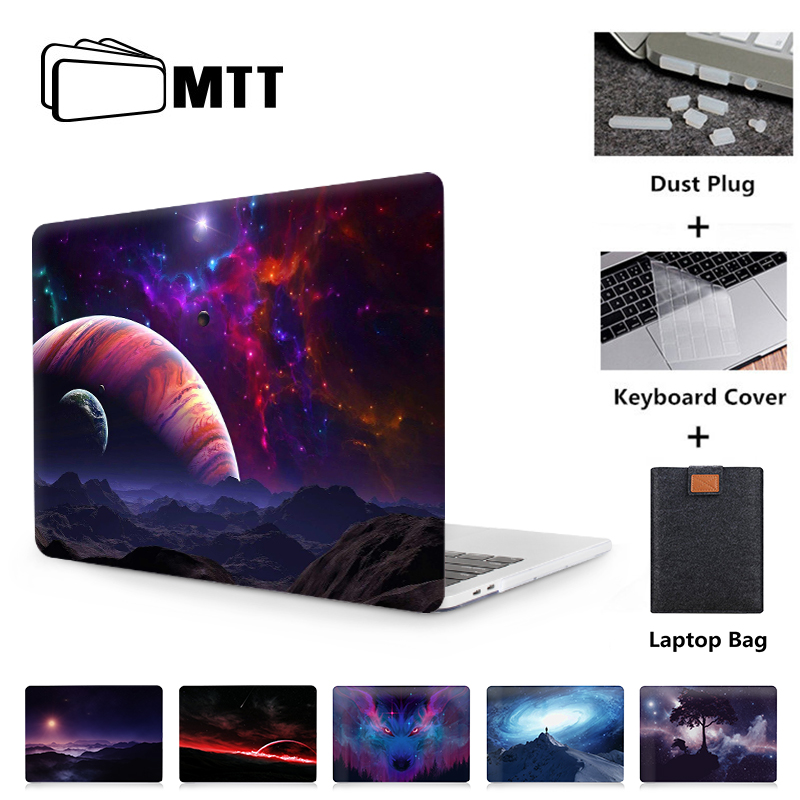 MTT Laptop Case For Macbook Air Pro Retina 11 12 13 15 16 Inch With Touch Bar Funda Hard Cover A1989 A1932 A2141 Laptop Sleeve