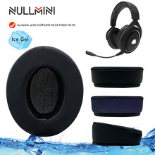 NullMini Replacement Earpads Headband For CORSAIR HS50 HS60 HS70 Headset Headphones Ice Feeling Sleeve Earphone Headbeam Earmuff