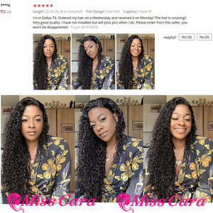 Image 5 - Peruvian Water Wave Bundles With Closure 100% Remy Human Hair 3/4 Bundles With Closure Miss Cara Hair Bundles With Closure