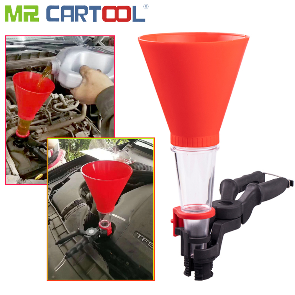 Mr Cartool Universal Oil Funnel Gasoline Car Plus Oil Tool Special Funnel Filling Equipment Kit