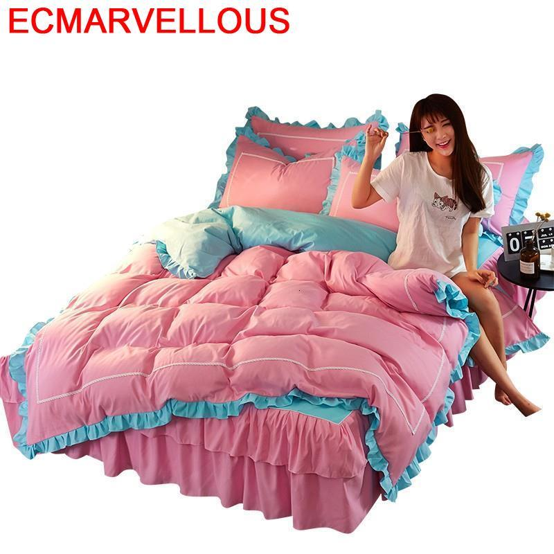 Duvet Cover Parrure Lit Ropa Infantil Luxury Dekbedovertrek Lencoes Cotton Linen Roupa De Cama Bed Sheet And Quilt Bedding Set