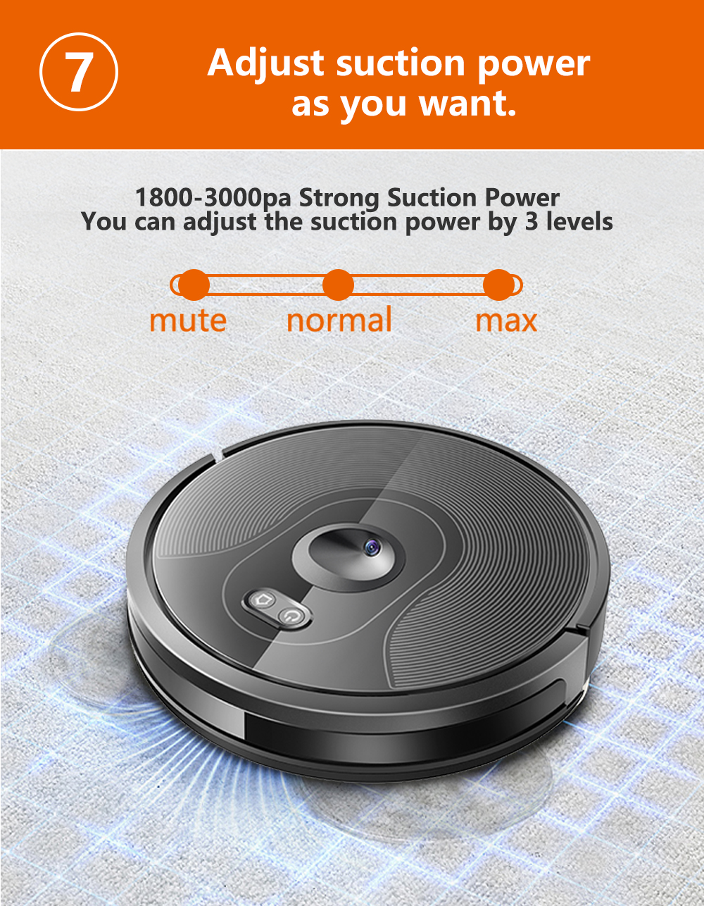 H676e1699775b48f8803b335f5e7f2f22p ABIR X6 Robot Vacuum Cleaner with Camera Navigation,WIFI APP controlled,Breakpoint Continue Cleaning,Draw Cleaning Area,Save Map