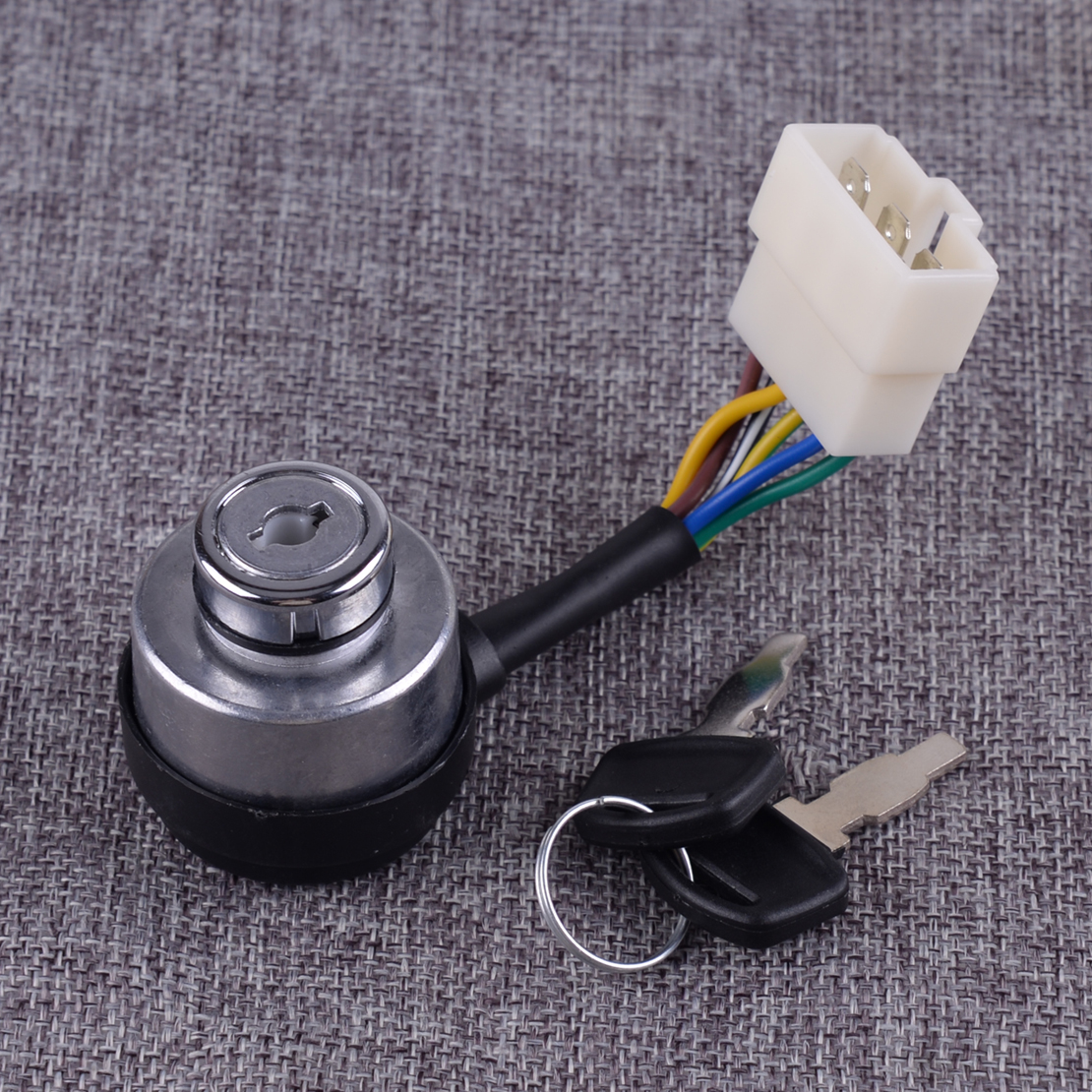 DWCX Car Portable Chinese Gasoline Diesel Generator Gas Ignition Switch On Off Start Ignition Key Lock Combination 6 Wire Way