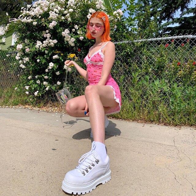 Lace Up Cherry Dot Dress 3