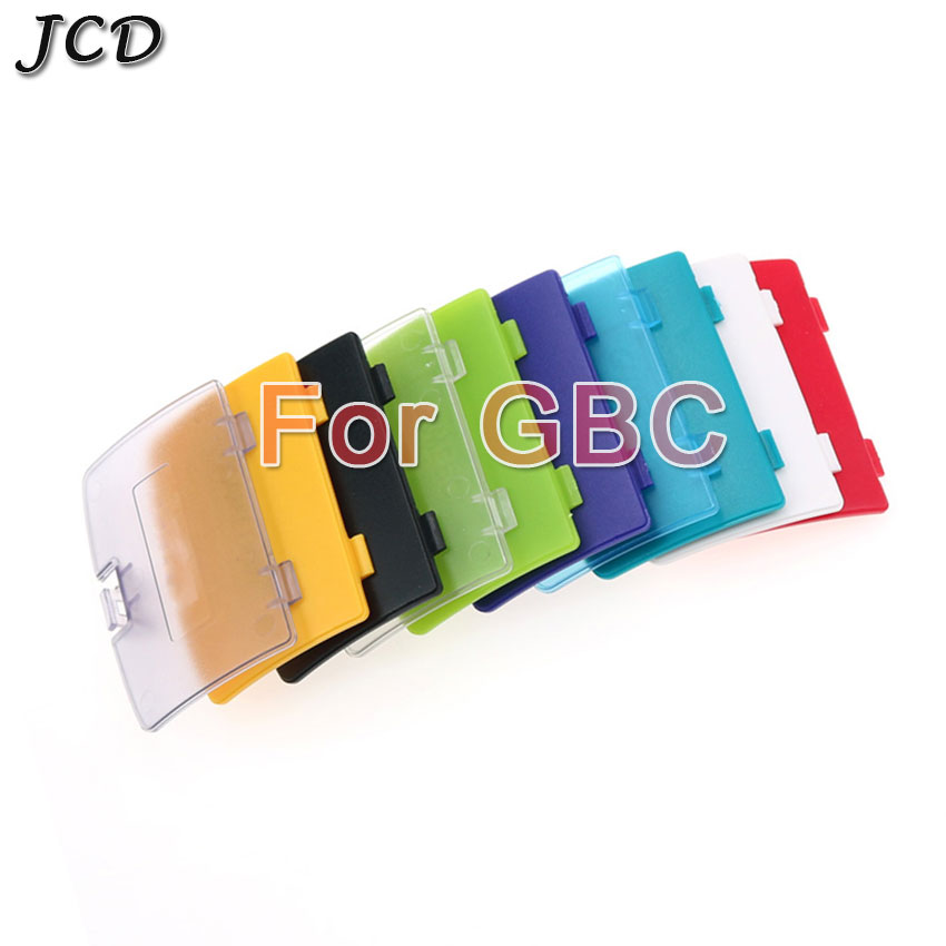 JCD For Nintendo <font><b>Gameboy</b></font> <font><b>Color</b></font> for GBC Battery Cover Lid Door Replacement For GBC Back Door Case image