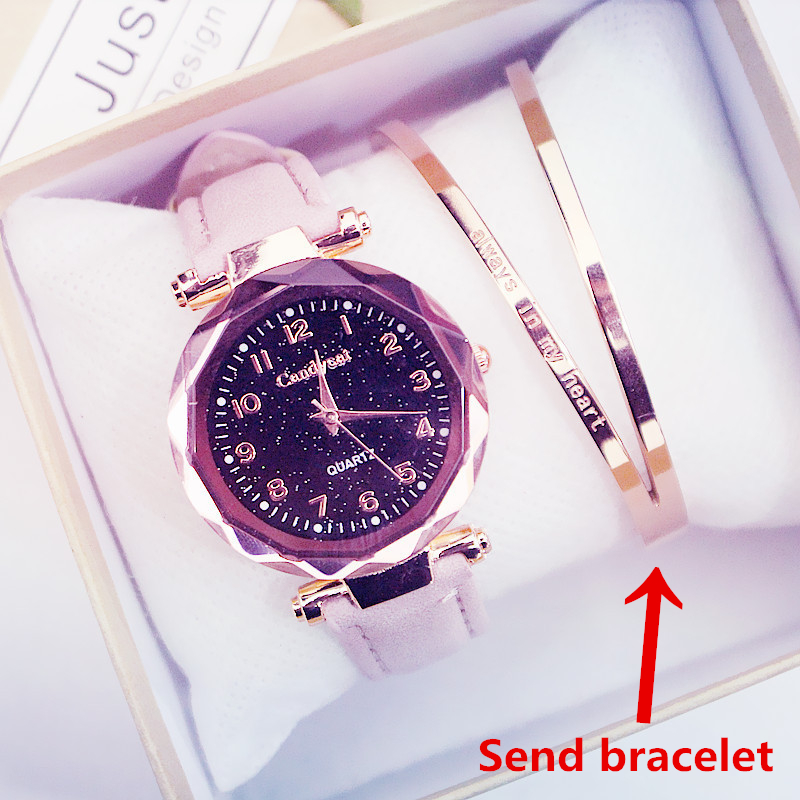 Women's Quartz Watch Modern Fashion Watches Starry Sky Wrist Watches Special Offer Leather Band Ladies Casual Relogio Femenino