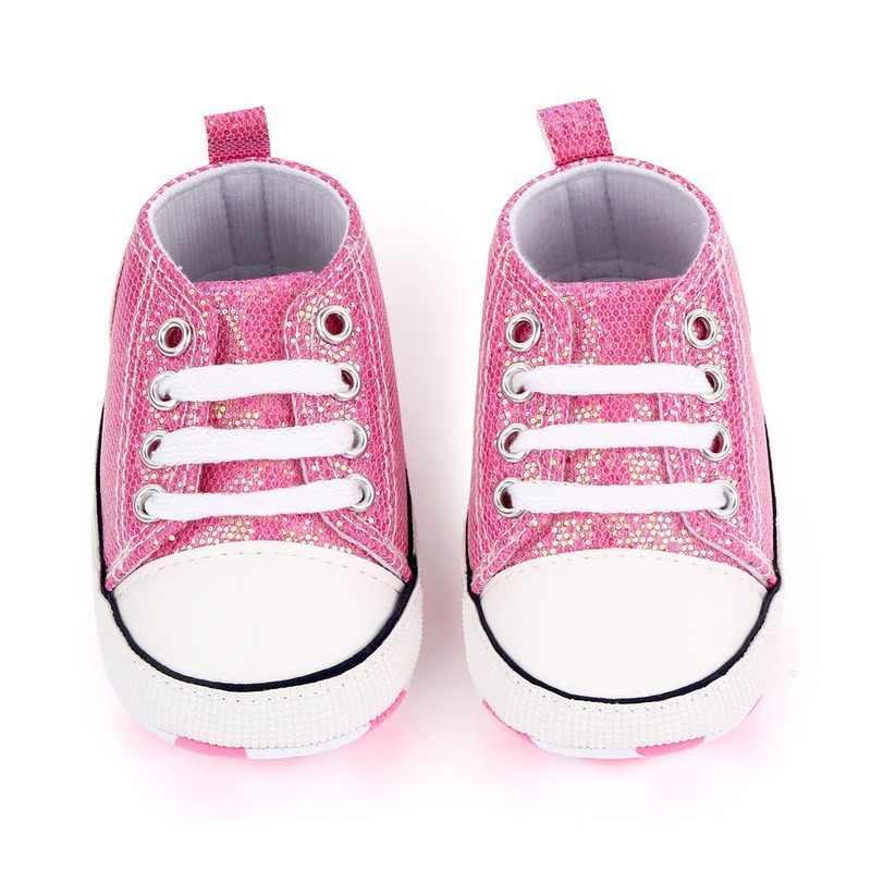 מבריק עליון תינוק נעלי מוקסינים רך Sole תינוקות בנות בני נעלי ספורט פעוטות ראשון הליכונים 2020 יילוד תינוק Prewalkers