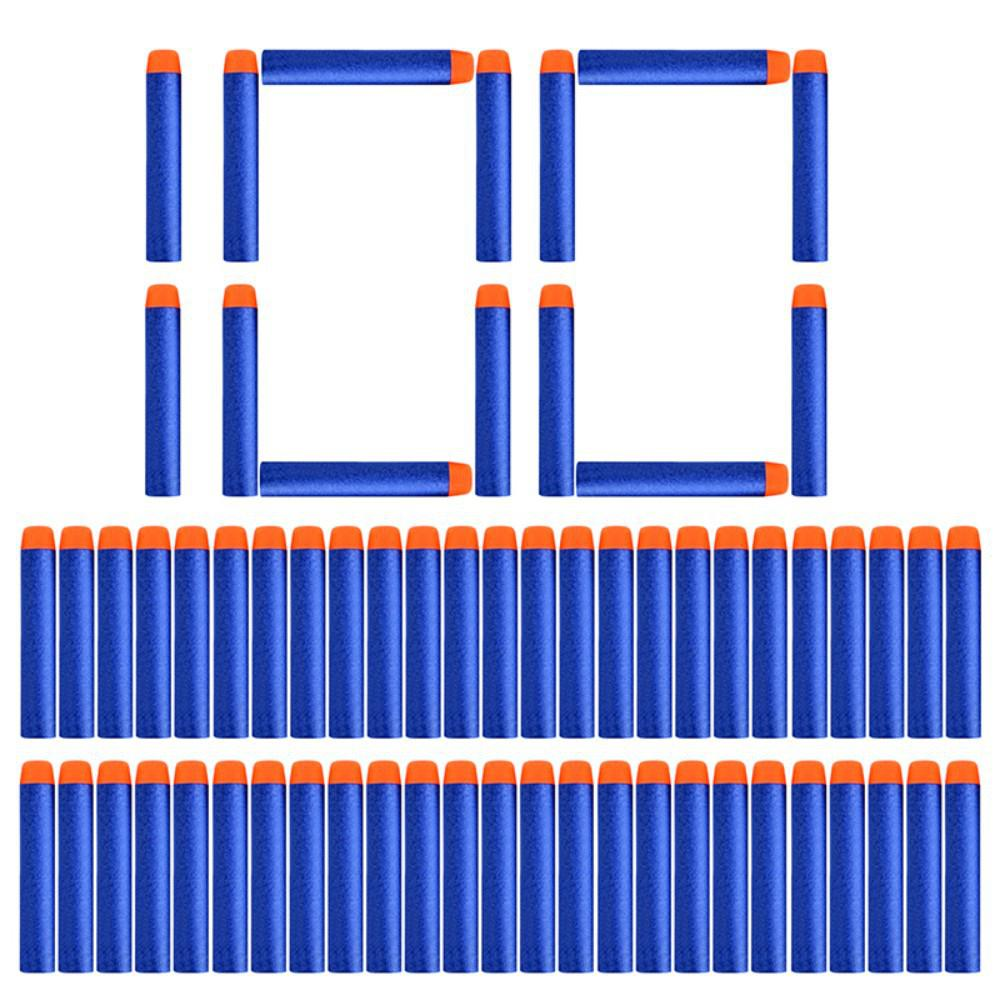 Kuulee 100PCS For Nerf Balls Soft Hollow Hole Head 7.2cm Refill Darts Toys For Nerf Series Blasters Xmas Kid Children Gift