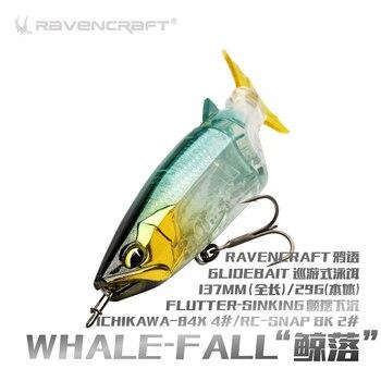 RAVENCRAFT ballena-Otoño de 2019 nuevo bebé-se hunde Swimbait Wobblers se hunde de señuelo de pesca abordar para Bass trucha, Lucio carnadas con articulaciones