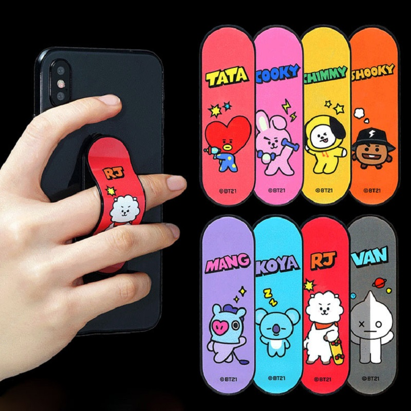 Cell-Phone-Holder Ring-Buckle Phone-Stand-Bracket Telescopic-Bracket BT21 Boys Kpop Bangtan