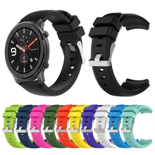 Watch Band For Huami Amazfit GTR 47mm Bracelet Solid Color Flexible Silicone Smart Watch Replacement Sports Strap Wristband premium new soft silicone watch band for amazfit t rex smart watch bracelet replacement wristband adjustable sports watch strap