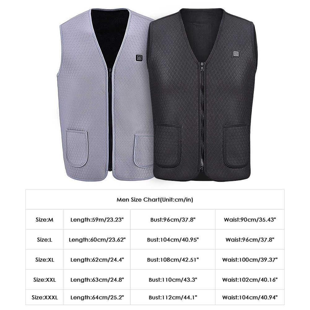 Jaqueta de inverno colete de aquecimento masculino feminino ao ar livre usb infravermelho aquecedor jaquetas vestuário térmico elétrico colete de pesca coletes