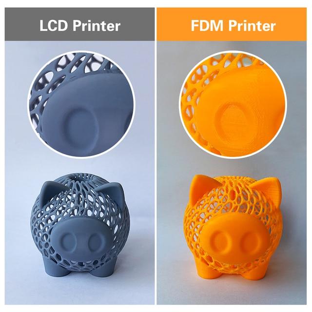 Qidi tecnologia sla/lcd 3d impressora sombra 5.5 s, impressora uv da resina do lcd com trilho duplo do forro da linha central de z, tamanho da construção 115*65*150mm 4