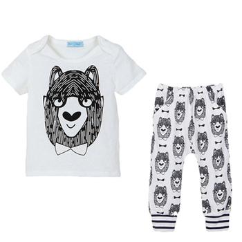 Czyszczenie magazynu wyprzedaż tylko 3 dolary dziewczynek odzież zestawy ubrań dla chłopców moda bawełna długi rękaw ubrania zestaw odzieży dla dzieci tanie i dobre opinie COTTON JERSEY REGULAR Pasuje prawda na wymiar weź swój normalny rozmiar O-neck Unisex Baby Clothing Płaszcz Pełna Cartoon