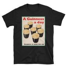 Una Guinness un día de cerveza Ad Unisex Camiseta de algodón personalizar camiseta