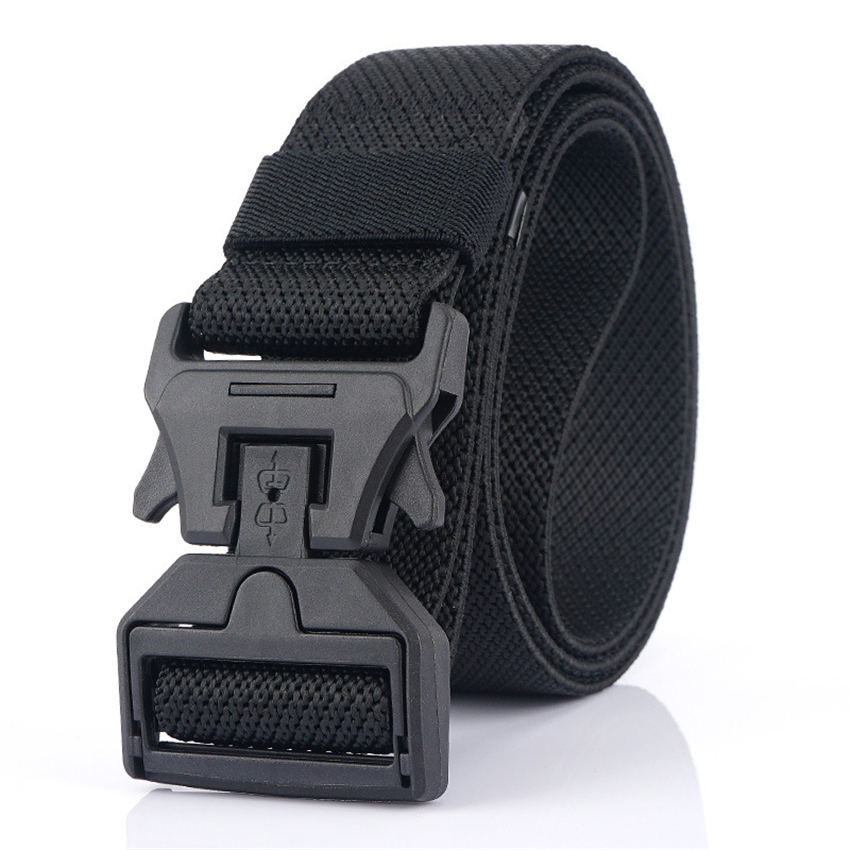 Brand New Men Belt Magnetic Buckle Casual Belts For Trousers High Quality Elastic Military Equipment Tactical Belt Adjustable
