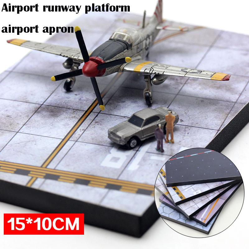 Airport Runway Platform  Airport Apron  Static Aircraft Runway Model  Military Sand Table  15*10 Cm