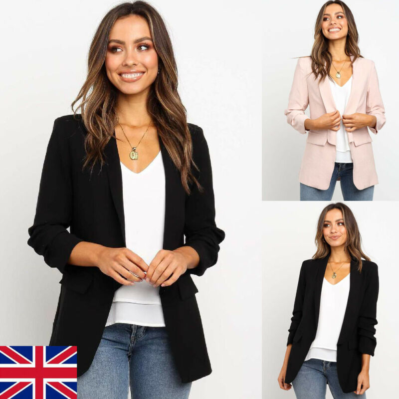 Spring And Autumn Ms. Jacket Slim Lapel Blazer Coat Commuter Ms. Work Jacket Solid Color Blazer Daily Casual Small Suit