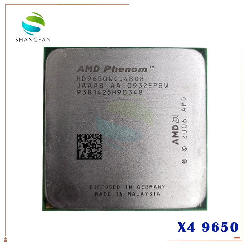 AMD Phenom X4 9650 Quad-Core DeskTop 2.3GHz CPU HD9650WCJ4BGH Socket AM2+/940pin title=