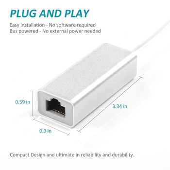 Adaptador para Lightning para RJ45 Ethernet LAN Networrk 100Mbps Cabo de rede no exterior Compact Travel para iPhone 7/8 / 7P / 8P 1