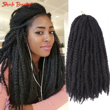 Passion Twist Hair-Extensions Blonde Marley-Braids Yaki Curly Crochet Afro Kinky Pre-Stretched