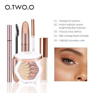 Image 2 - O.TWO.O 5 pçs conjunto de maquiagem dos olhos incluem sobrancelha rímel delineador cobertura completa corretivo líquido uso highlighter como sombra