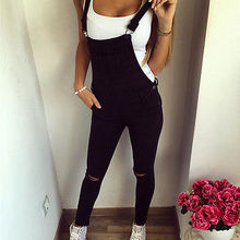 Hot Sale Women Slim Denim Jeans Bib Long Pants Overalls Female Fashion Casual St