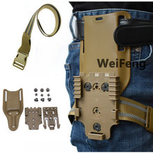 Correa de banda para pierna táctica QLS 19 22, adaptador de cartuchera para pistola Safa Glock 17 Beretta M9, cinturón de cintura para pistola de caza