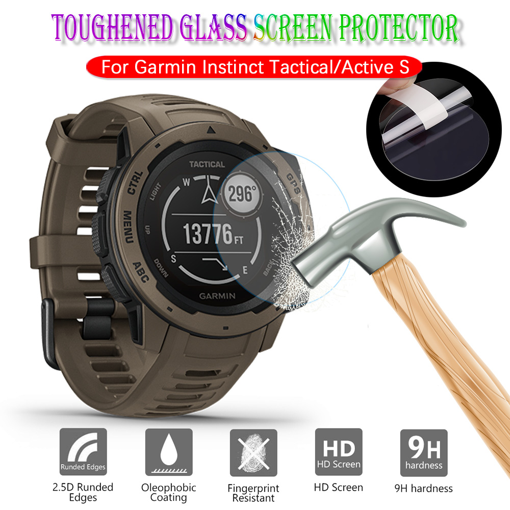 For Garmin Instinct Tactical Active S Screen Protector Watch Accessories HD 2.5D Premium Tempered Screen Glass Protective Film