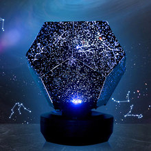 3D Star Projector led night Light Romantic LED Starry Night Lamp for children Bedroom Projection Home Planetarium(China)