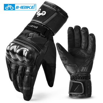 INBIKE Motorcycle Gloves Winter Thermal Glove Waterproof  Motorbike Gloves TPR Pad Men's Cycling Bike Racing Moto Bicycle Gloves