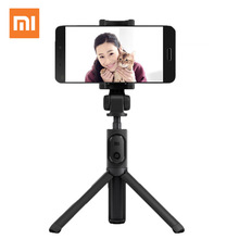 Tripé dobrável xiaomi para selfie, bastão com monopé, portátil, extensível, bluetooth, wireless, obturador remoto, para celular ios e android
