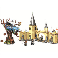 New Hogwarts Castle Express Train Quidditch Harri Potters Legoinglys Technic Building Blocks Action Toys Figures For Children harri potter quidditch golden snitch limited supply