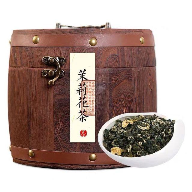 2019 New Tea Jasmine Tea Strong Flavor Old Beijing Tea Wooden Barreled Green Tea Jasmine Snowflake Snail 500G